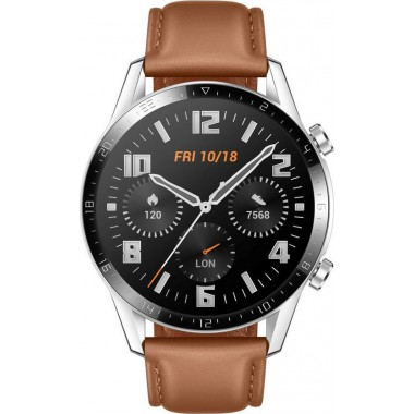 Huawei Watch GT 2 46mm Pebble Brown (Brown Leather Strap) 55024470