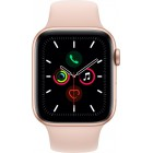 Apple Watch Series 5 GPS + Cellular, 44mm Gold Aluminium Case with Pink Sand Sport Band - S/M & M/L (MWWD2WB/A)