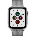 Apple Watch Series 5 GPS + Cellular, 44mm Stainless Steel Case with Stainless Steel Milanese Loop (MWWG2WB/A)