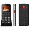 "ΚΙΝΗΤΟ NSP 2000DS 1.8"" DUAL SIM 2G 32MB/32MB RADIO-MP3/MP4 SOS BUTTON BLACK/SILVER   HANDS FREE"