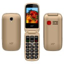 "ΚΙΝΗΤΟ NSP 2300DS FLIP 2.4"" DUAL SIM 2G 32MB/32MB RADIO-MP3/MP4 SOS BUTTON GOLD   HANDS FREE"
