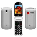 "ΚΙΝΗΤΟ NSP 2300DS FLIP 2.4"" DUAL SIM 2G 32MB/32MB RADIO-MP3/MP4 SOS BUTTON SILVER   HANDS FREE"