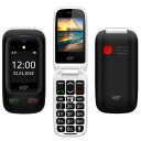 "ΚΙΝΗΤΟ NSP 2500DS FLIP 2.4""+1.8"" DUAL SIM 2G 32MB/32MB RADIO-MP3/MP4 SOS BUTTON BLACK + HANDS FREE"