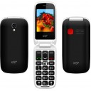 "ΚΙΝΗΤΟ NSP 2300DS FLIP 2.4"" DUAL SIM 2G 32MB/32MB RADIO-MP3/MP4 SOS BUTTON BLACK + HANDS FREE"