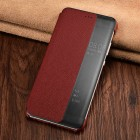 Huawei P10 Leather Pattern Smart Cover Red-Black-Xoomz