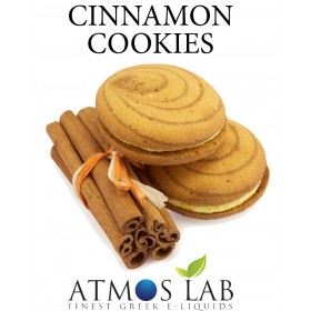 ATMOS LAB υγρό ατμίσματος Cinnamon Cookies, Balanced, 12mg νικοτίνη, 10ml- ATMOS LAB