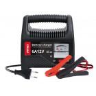 AMIO φορτιστής μπαταριών 12V/6A 02085, με αναλογική ένδειξη και ασφάλεια- AMIO