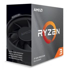 AMD CPU Ryzen 3 3100, 3.6GHz, 4 Cores, AM4, 18MB, Wraith Stealth cooler- AMD