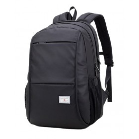 ARCTIC HUNTER τσάντα πλάτης 20005-BK, laptop, αδιάβροχη, μαύρη- ARCTIC HUNTER