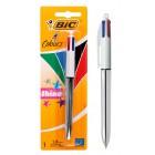 BIC στυλό διαρκείας 4 Colours με μύτη 1mm, ασημί- BIC