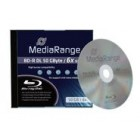 MR BD-R(bluray) Dual Layer 50GB 6x speed, single jewelcase- MediaRange - MR506