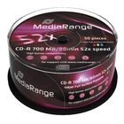 MR CD-R 700MB  52x - Cake 50  inkjet FF printable- MediaRange - MR208