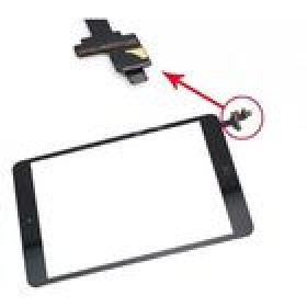 Touch Panel - Digitizer High Copy for iPad Mini, Black- BULK