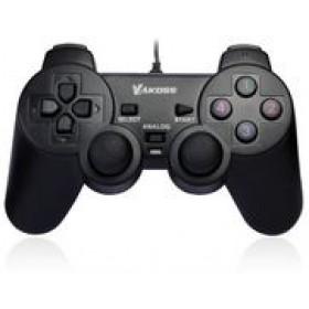 VAKOSS Gamepad, USB Double Shock, 10 buttons, 2 joystick, Black- VAKOSS