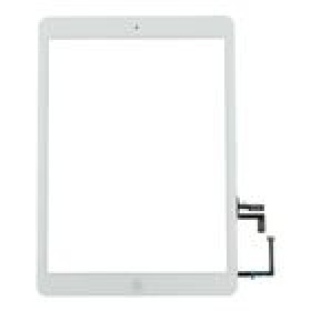 Touch Panel - Digitizer High Copy for iPad Air, bracket and tape, White- BULK