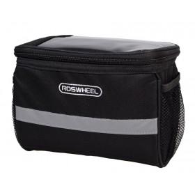ROSWEEL Τσάντα για τιμόνι ποδηλάτου, Αδιάβροχη, 3.5L, Black- ROSWHEEL