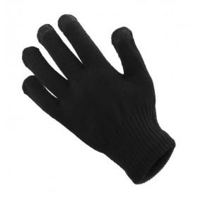 Πλεκτά γάντια γυναικεία, κατάλληλα για οθόνες αφής, μαύρα- UNBRANDED