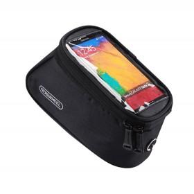 ROSWHEEL Τσάντα ποδηλάτου με θήκη τηλεφώνου, αδιάβροχη, μαύρη- ROSWHEEL