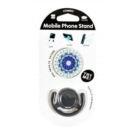 Pop mobile stand & holder με βάση αυτοκινήτου, mandala colors- UNBRANDED
