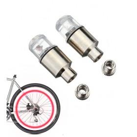 Καπάκι βαλβίδας ποδηλάτου με φως, 2 τμχ, κόκκινο- UNBRANDED