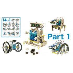 Εκπαιδευτικό robot kit AG211B, 14 σε 1, Ηλιακό- UNBRANDED