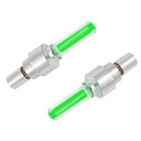 Καπάκι βαλβίδας ποδηλάτου AG304B, LED, 6.5cm, 2τμχ, πράσινο- UNBRANDED