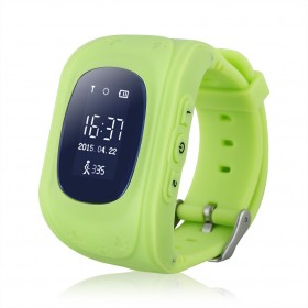 GPS Παιδικό ρολόι χειρός Q50, SOS-Βηματομετρητής, Green- BULK