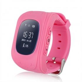 GPS Tracker Παιδικό ρολόι χειρός Q50, SOS-Βηματομετρητής, Pink- BULK