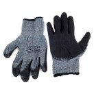 Αντιολισθητικά γάντια εργασίας 02047, γκρι-μαύρο- AMIO