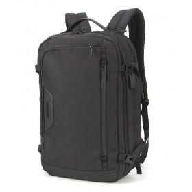 ARCTIC HUNTER τσάντα πλάτης B-00183-BK με θήκη laptop, αδιάβροχη, μαύρη- ARCTIC HUNTER