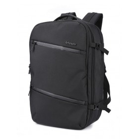 ARCTIC HUNTER τσάντα πλάτης B-00184, laptop, USB-3.5mm, αδιάβροχη, μαύρη- ARCTIC HUNTER