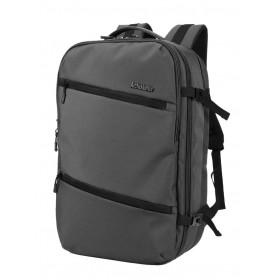 ARCTIC HUNTER τσάντα πλάτης B-00184, laptop, USB-3.5mm, αδιάβροχη, γκρι- ARCTIC HUNTER