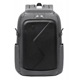 ARCTIC HUNTER τσάντα πλάτης B-00295-BK, laptop, eva πρόσοψη, γκρι- ARCTIC HUNTER