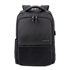 ARCTIC HUNTER τσάντα πλάτης B00069-BK, laptop, USB, αδιάβροχη, μαύρη- ARCTIC HUNTER