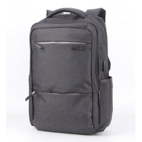 ARCTIC HUNTER τσάντα πλάτης B00107-BK, laptop, αδιάβροχη, μαύρη- ARCTIC HUNTER