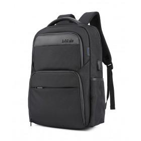 ARCTIC HUNTER τσάντα πλάτης B00113C-BK με θήκη laptop, USB, μαύρη- ARCTIC HUNTER