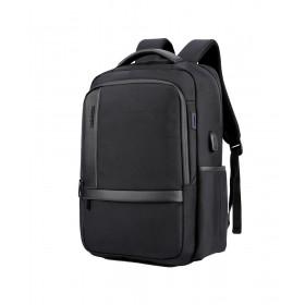 ARCTIC HUNTER τσάντα πλάτης B00120C-BK, laptop, USB, αδιάβροχη, μαύρη- ARCTIC HUNTER