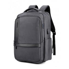 ARCTIC HUNTER τσάντα πλάτης B00120C-GY, laptop, USB, αδιάβροχη, γκρι- ARCTIC HUNTER