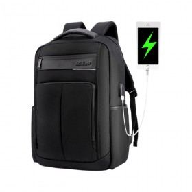 ARCTIC HUNTER τσάντα πλάτης B00121C-BK με θήκη laptop, αδιάβροχη, μαύρη- ARCTIC HUNTER