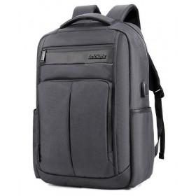 ARCTIC HUNTER τσάντα πλάτης B00121C-GY, laptop, USB, αδιάβροχη, γκρι- ARCTIC HUNTER