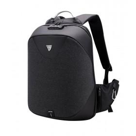 ARCTIC HUNTER τσάντα πλάτης B00208, laptop, USB, αδιάβροχη, lock, μαύρη- ARCTIC HUNTER
