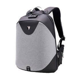 ARCTIC HUNTER τσάντα πλάτης B00208, laptop, USB, αδιάβροχη, lock, γκρι- ARCTIC HUNTER