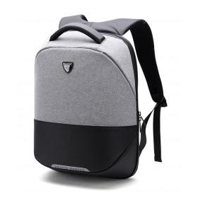 ARCTIC HUNTER τσάντα πλάτης B00216-LG, laptop, USB, αδιάβροχη, ανοιχτό γκρί- ARCTIC HUNTER