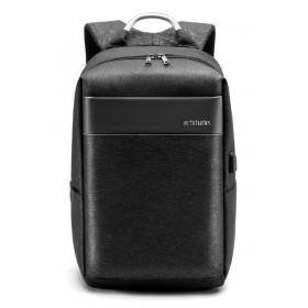 ARCTIC HUNTER τσάντα πλάτης B00218-BK, laptop, USB, αδιάβροχη, μαύρη- ARCTIC HUNTER