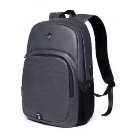 ARCTIC HUNTER τσάντα πλάτης B00249, laptop, USB, αδιάβροχη, σκούρο γκρι- ARCTIC HUNTER