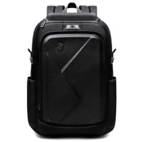 ARCTIC HUNTER τσάντα πλάτης B-00295-BK, laptop, eva πρόσοψη, μαύρη- ARCTIC HUNTER
