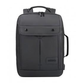 ARCTIC HUNTER τσάντα πλάτης B00325-BK με θήκη laptop, αδιάβροχη, μαύρη- ARCTIC HUNTER
