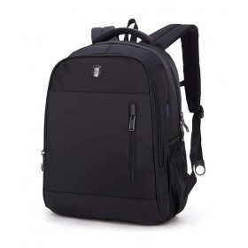ARCTIC HUNTER τσάντα πλάτης B180018, laptop, αδιάβροχη, μαύρη- ARCTIC HUNTER