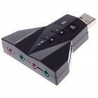 PT USB κάρτα ήχου 7.1CH , με έξοδο μικρόφωνου και ακουστικού- Power Tech - CAB-U037