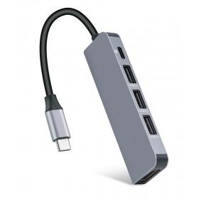 USB Type-C HUB CAB-UC045, 3x USB 3.0, USB-C PD, HDMI 4K- UNBRANDED
